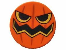 LEGO - Tile, Round 2 x 2 with Pumpkin Jack O' Lantern Pattern - Orange