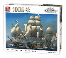 1000 Piece History Jigsaw Puzzle - BATTLE OF TRAFALGAR VICTORY SHIPS BOATS 05397