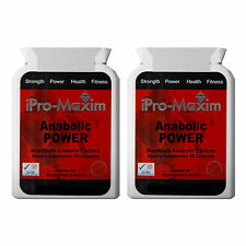 ANABOLIC POWER iPro-Maxim MASS- BODYBUILDING SUPPLEMENT -180 Caps NONE-STEROID