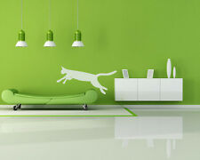 Cat Jumping on Sofa Bed Vinyl Wall Decal Sticker Removable Graphic Leaping Couch