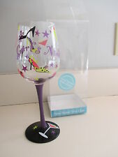 g#rls night out! wine glass hand painted shoes,stars,pink,purple black,martini