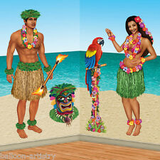 Hawaiian Tropical Party Decoration Scene Setter Add-on Props - HULA GIRL GUY
