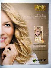 PUBLICITE-ADVERTISING :  GARNIER Belle Color  2014 Coiffure