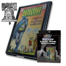 3 Comic Book Showcase Framed Display SILVER AGE Wall Mount Case BCW Frame
