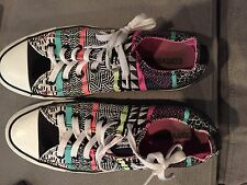 Converse All Star Chuck Taylor sneakers tennis shoes 8 10 multi color