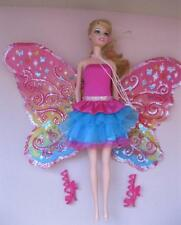 Barbie Doll A Fairy Secret Transforming Doll 2-1 Dress Shoes w/ Butterfly Wings