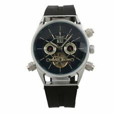 ESS Men Black Tourbillon Stainless Steel Date  WM255 - Imported