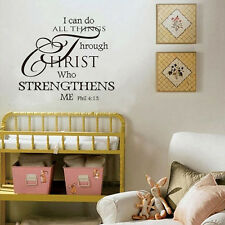 I can do all things Vinyl decor words Wall sticker Wallpaper wall decals mural