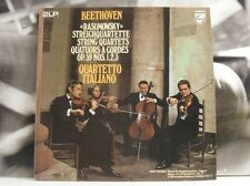 BEETHOVEN - RASUMOWSKY STRING QUARTETS / QUARTETTO ITALIANO - 2X LP NEAR MINT