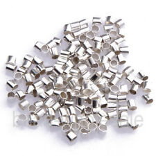 500 Pcs Metal Crimps Stopper End Beads - Silver / Gold / Bronze / Black Plated