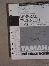 1989 Yamaha Motorcycle ATV Riva Technical Manual General Tips Zuma Banshee  L