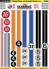 MG6403-3 1/24 High Def UltraCal Decals Racing Stripe and Roundel Decals Style 3
