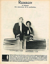 PUBLICITE ADVERTISING 034   1960    RONSON    briquet