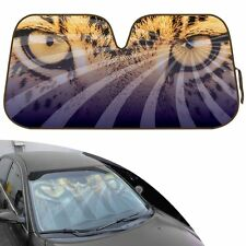 New Safari Wild Leopard Eyes Car Truck Windshield Folding Sun Shade Large Size