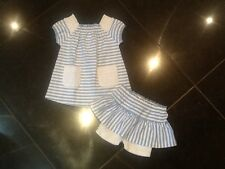 Juicy Couture New & Genuine Baby Girls Blue Top & Skirt 6/12 MTHS & Juicy Logo