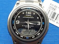 "CASIO AW-82-1 (3768) MOON PHASE, FISHING GEAR "" VINTAGE-RETRO ""NUEVO"" C"