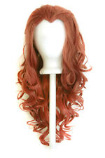 "25"" Curly Layered Cut with Widow's Peak and no Bangs Maple Brown Wig Cosplay NEW"