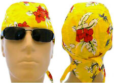Tropical Flower Bandana Doo Rag Motorcycle Skull Cap Mens Womens Durag Headwrap