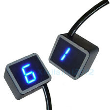 LED Digital Gear Indicator Motorcycle Display Shift Lever Sensor Blue Light
