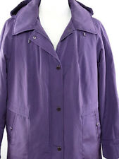 Giacca Woman XXL Purple Jacket / Coat  W/ Detachable Hood - Faux Fur Lining