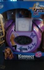 Disney Hannah Montana iConnect Mp3 Speaker Alarm Clock collectible sealed purple