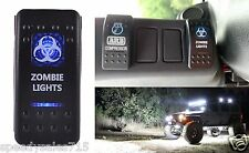 "(1) Blue LED Zombie Lights Toggle Switch Cree 20"" 50"" Off Road New Free Shipping"