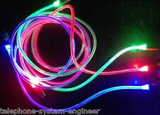 1M LED GLOW FADE MICRO USB DATA SYNC CHARGER CABLE LEAD FOR SONY SAMSUNG HTC