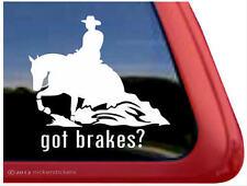 Got Brakes? Reining Horse ~ High Quality Horse Vinyl Window Decal Sticker
