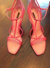 Louis vuitton Hot Pink Patent Leather wedge sandal shoe- Size 40 US 10 SOLD OUT
