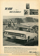 1963 Print Ad of 1964 Oldsmobile Olds F-85 F85 Cutlass horse ranch