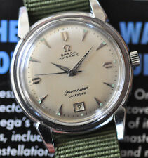 Vintage 1952 Omega Seamaster Watch Cal 353 Serviced Bumper Automatic Date at 6