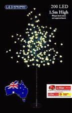 200LED 1.5m Warm White CHERRY BLOSSOM SOLAR CHRISTMAS TREE
