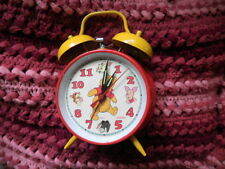 Disney's Winnie The Pooh - Wind Up Clock Red & Yellow by Sunbeam