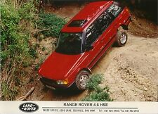 Range Rover 4.6 HSE original colour Press Photograph