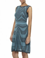 NWT $695 M MISSONI Metallic Swirl Zig Zag Print Fit Flare Skater Dress,sz.36/XS