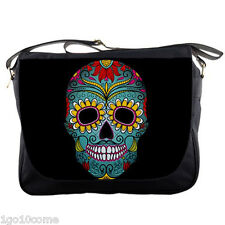 Day Of The Dead Sugar Skull Tatto Messenger Bag Textbook Notebook Laptops School
