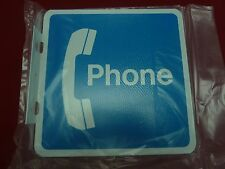 New Small Metal Phone Payphone Sign Pay Phone Payphones Telephone Flanged