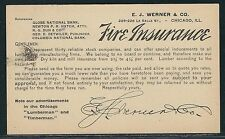 1893 #UX10 Advertising Postal Card – E.J. Werner & Co., Chicago, IL