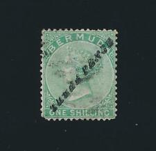 BERMUDA 1874, 3d on 1sh +CERTIFICATE & SIGNED, VF USED SG#13