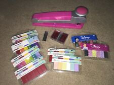 EK Success Fastenater Pink with Staples Scrapbooking Decorative Accents