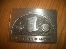 D VINTAGE AMERICAN LEGION DEPARTMENT OF INDIANA  BOY SCOUT BELT BUCKLE