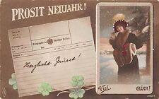 BG4862 neujahr new year women clover   germany greetings