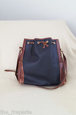 *GUCCI* VINTAGE MINI MONOGRAM  BLACK AND BROWN LEATHER BUCKET BAG