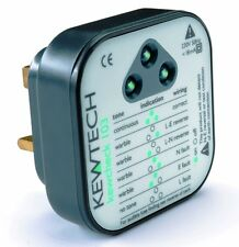 Alto Kewtech Mains Wiring Tester Socket Test Audible Sound LED Fault Indicator
