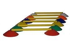 6 x Mini-Hürde (12 Markierteller + 6 Hürdenstangen), z.B. für Fußball-Training