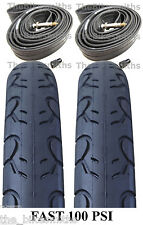 "2 PAK KIT 26"" x 1.5"" Kenda PRESTA Tubes & KWEST 100 PSI  Bike Tires MTB Slick"