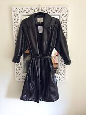 Selected Femme Black Shiny Mac Coat, EU 38 UK Size 10 New RRP £150