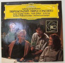 """BEETHOVEN TRIPELKONZERT MUTTER ZELTSER YO YO MA VON KARAJAN 12"""" LP (e59)"""