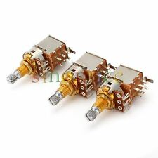 3x A500k Guitar OHM Audio Control Pot Potentiometer Push Pull