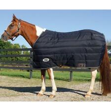 Horse Winter Blanket Black 1200D Stable Mid-Heavy Turnout 250 Grams Arctic 84""